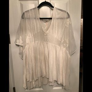 Free people ivory sheer on top tunic